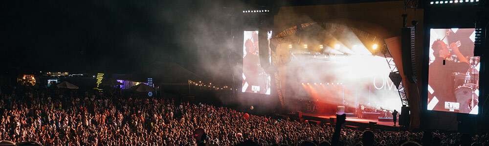 OMD playing main stage at Rewind 2018