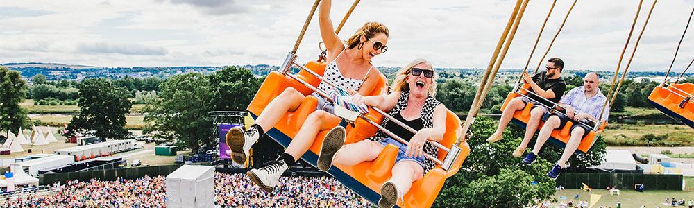 Fun fair at Rewind Festival